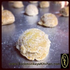 sugar coated cookie dough