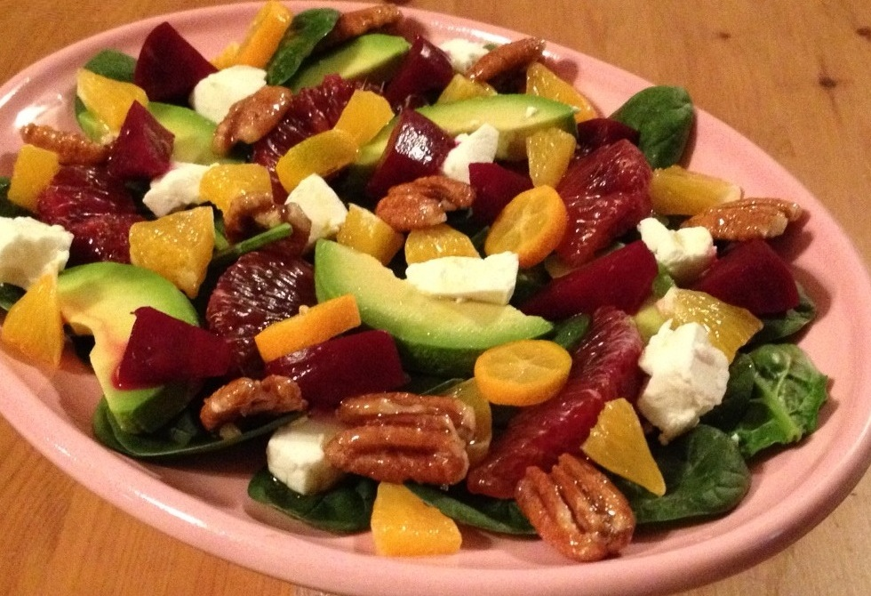 Chilled Valentine's Day Salad is much healthier, and just as delicious!