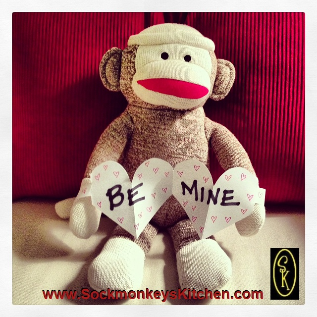 Happy Valentines Day from Sockmonkey Oliver