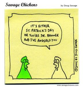 Savage Chicken: St. Pat's
