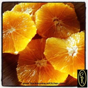 Peel the orange... and make sure it's a Navel. If not, make sure to remove all seeds!