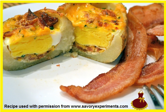 Stuffed Breakfast Potato  9