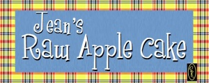 Jean's Raw Apple Cake