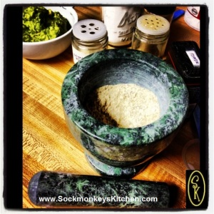 If you don't have a mortar and pestle, I highly recommend you get one to make your own spice blends!