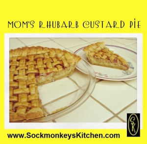 Mom's Rhubarb Custard Pie