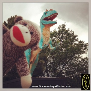 T Rex and Sockmonkey