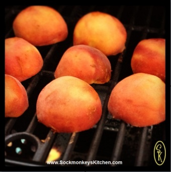 Make sure you let the peaches sit long enough to get those beautiful grill marks
