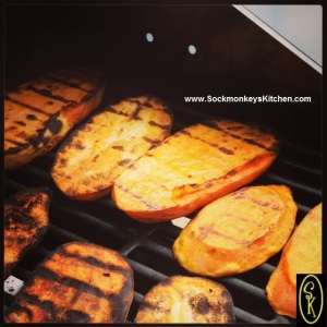 6. Slicing sweet potatoes lengthwise gives you a much easier veggie to cook on the grill