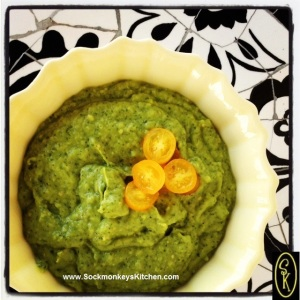 5. After you add the spices and avocados, whiz it again and serve.