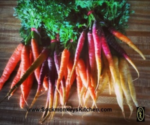 Carrots can come in a variety of colors. These carrots were from one of my trips to the Farmers Market last fall.