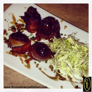 These bacon-wrapped dates are an absolute MUST HAVE when you visit Primitivo. Trust me.