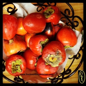 I love the deep orange color of these beautiful persimmons!