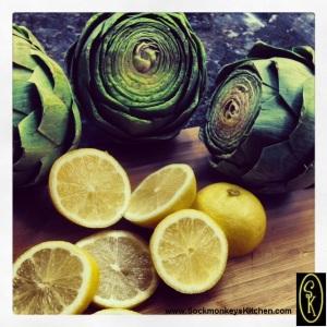 Step 4: Make center slices from fresh lemons (1 for each choke).
