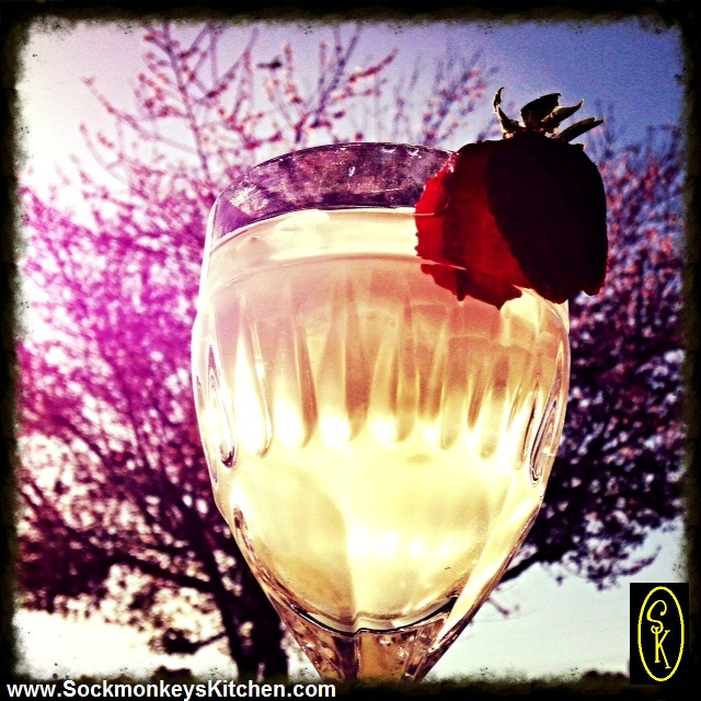 Picture yourself sipping this lovely drink on a warm spring afternoon.