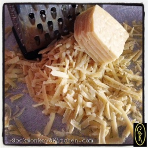 Promise me that  you'll shred a block of real parmesan cheese instead of reaching for that icky green canister. The taste is far superior and the quality of the product is what will make your dinner taste great!