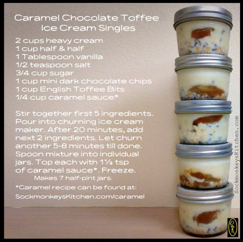 Caramel Chocolate Toffee Ice Cream Singles
