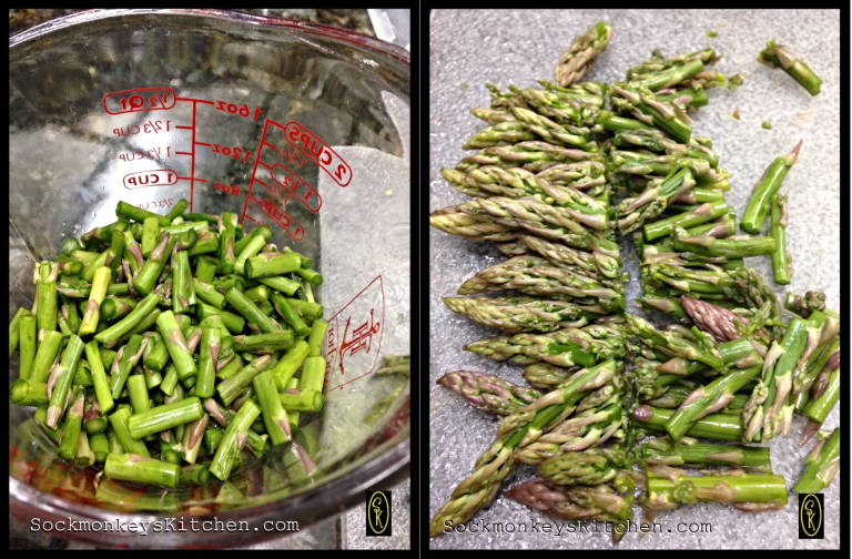 Here are the sizes to cut up your super-skinny asparagus.