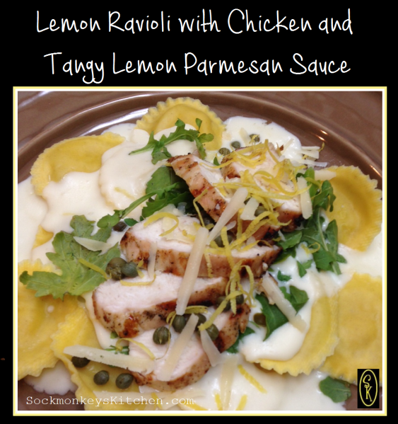 Lemon Ravioli with Chicken and Tangy Lemon Parmesan Sauce 4