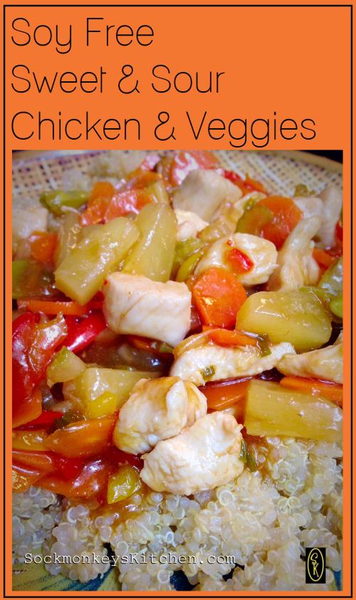 Soy Free Gluten Free Sweet & Sour Chicken & Veggies