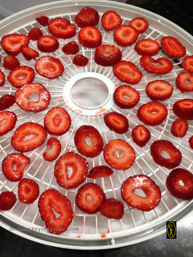Sliced Strawberries on a Tray