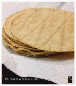 3. Heat the tortilla