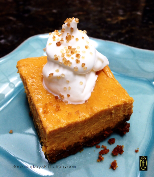 This is a simple dessert that is reminiscent of pumpkin pie.