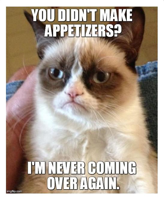 grumpy appetizers